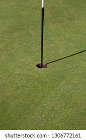 Close up of a hole on a Golf Course Green