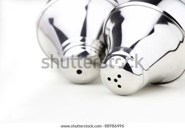 Close Holes Salt Pepper Shakers Stock Photo Edit Now 88986496
