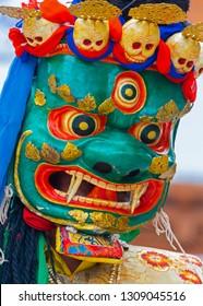 close up holy Buddhist mask