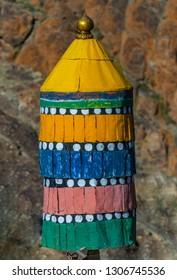 Close up of Holy Buddhist prayer object