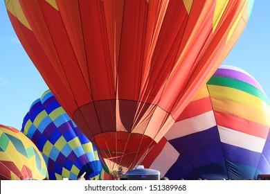 close up of hot air balloons