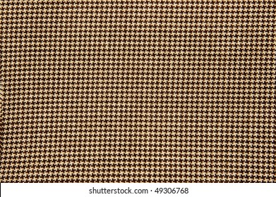 close up of a houndstooth pattern textile