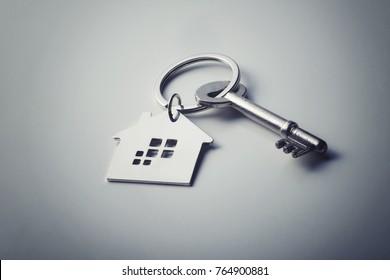 Close up house shaped key chain