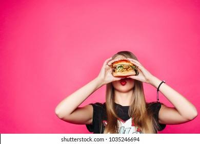 Dirty chubby teen hungry woman gets food