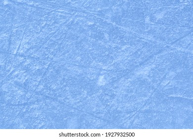 Close up of ice texture on outdoor natural rink in Montreal, Canada