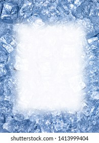 close up of ice water