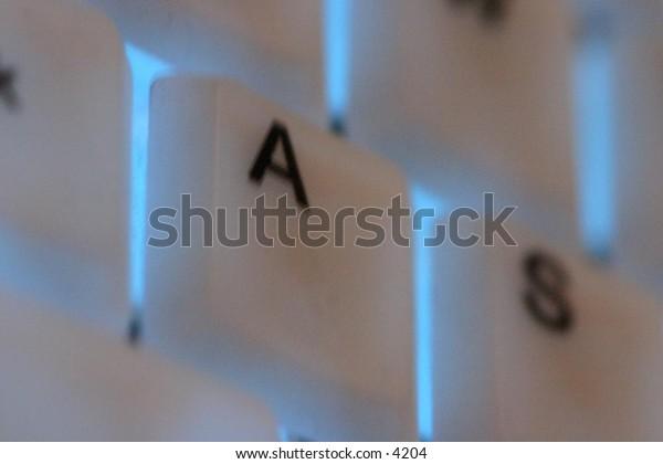 close up of illuminated keyboard