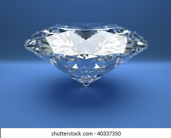 Close up illustration of diamond - rendered in 3d