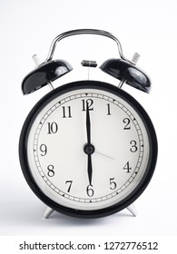 Close up image of alarm clock, time concept, deadline urgency concept