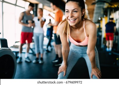 Photo of Close up image of attractive fit woman in gym