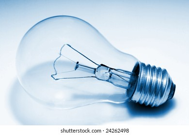 close up image of classic light bulb background