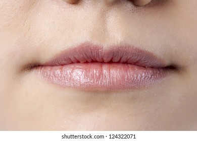 Close up image of female lips