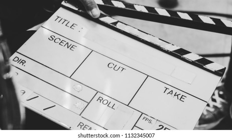 close up image of film slate