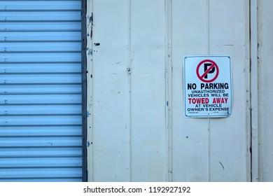 Close up image of garage door