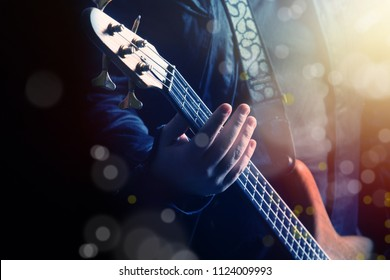 close up image of guitarist playing guitar