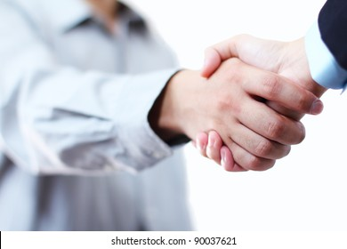 Close up image of hands in handshake