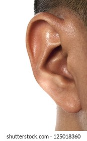Close up image of human ear