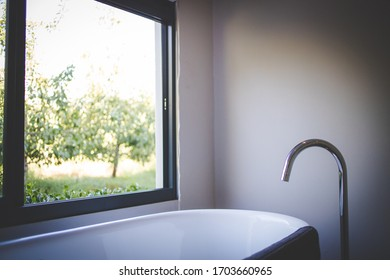 Close up image of a luxury bath in a bathroom