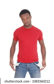 A close up image of the middle section of a black man showing his