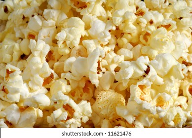 Close up image of popcorn as background