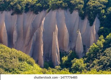Close up image of pumice rock outcrops. Kuthin bata, Kronotsky Reserve, Kamchatka Peninsula, Russia