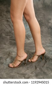 Close up image of a woman leg and feet