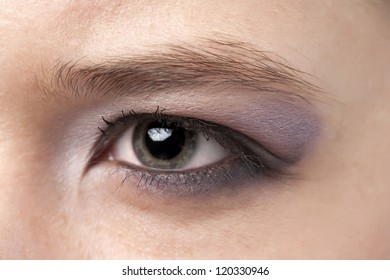 Close up image of woman's eye