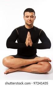 Close image of yoga trainer