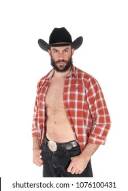 A close up image of a young man in a open checkered shirt wearing a