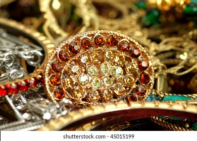 Close of Indian Jewellery.