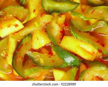 close up of indian picked vegetables achar