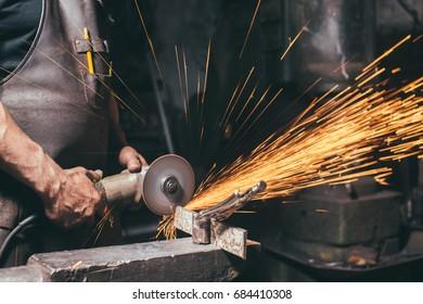 close up Industrial Grinder / Metal Grinder