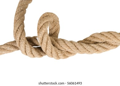 close up of industrial rope made of hemp