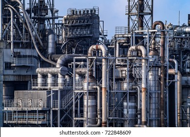 Close up Industrial view at oil refinery plant form industry zone  ,pipe line close up