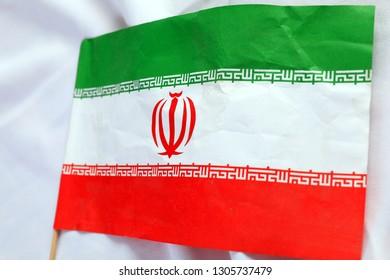 Close up of The Iran flag