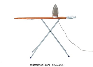 close up of ironing tool  on white background