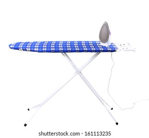 Close up of ironing tools. Isolated on a white background.