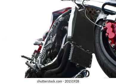 close up isolated motorbike