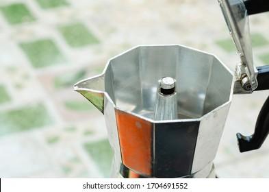 Close up of Italian coffee maker