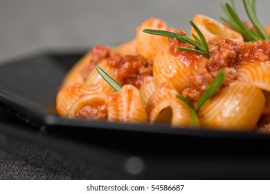 Close Up Of Italian Pasta and Sauce