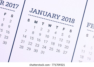 Close up of January 2018. We wish you a new year filled with wonder, peace, and meaning.