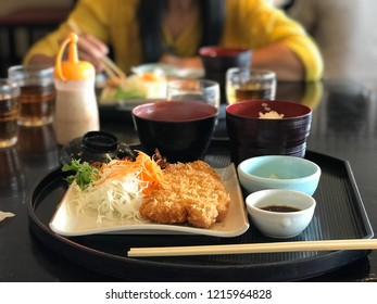 close up Japan food is Tonkatsu, cuisine and travel concept