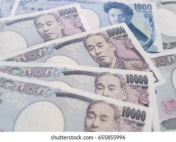 Close up Japanese yen currency, Japan money