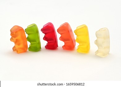 Close up jelly candy bear - concept