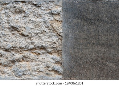 A Close Up of the Join Between a Rough and a Smooth Wall