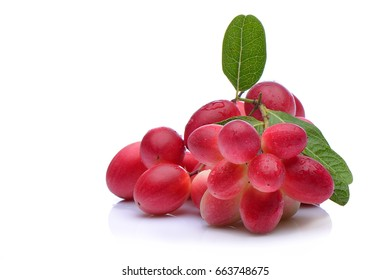 Close up karonda fruit on white background.