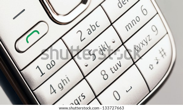 Close up of the Key Pad on a Mobile Phone