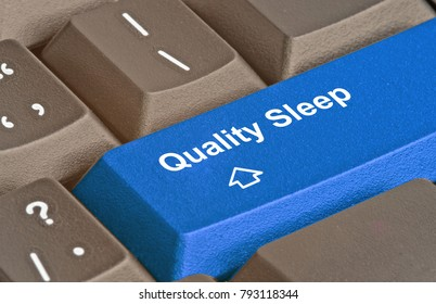 close up of keyboard with key for quality sleep