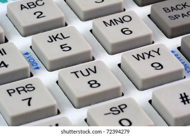 Close up of a keypad