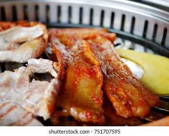 close up of Korean bbq with hot pepper paste